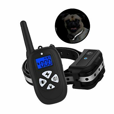 XLHLKP Dog Training Collar with Reflective Strap 1450ft Remote Waterproof Rec...