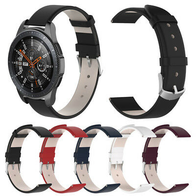 Leather Wristband Watch Band Bracelet Strap for Samsung Galaxy Watch 46mm 42mm