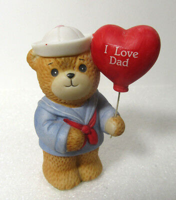 Lucy & Me Sailor BOY Holding I LOVE DAD Balloon from Son Figurine
