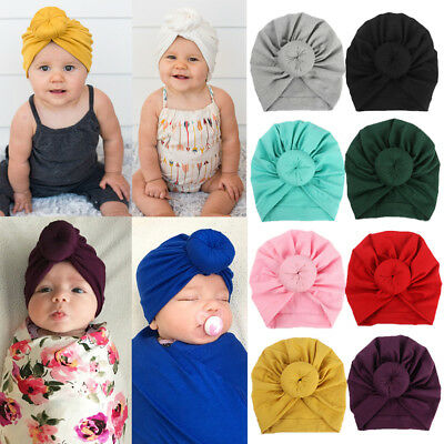 Baby Infant Turban Toddler Kids Boy Girl Cotton Blends Hat Lovely Soft Hat