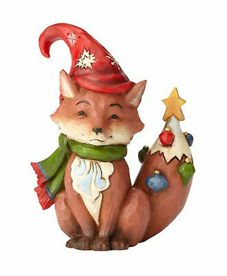 Enesco Jim Shore Mini Mini Christmas Fox New Item #  4058808