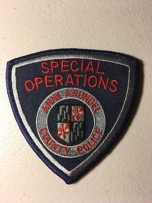 Anne Arundel County Maryland Police Department Special Operations SWAT Patch Md