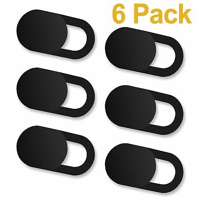 6pcs of Set Ultra-Thin Plastic Webcam Web Camera Cover for Laptops Macbook Black
