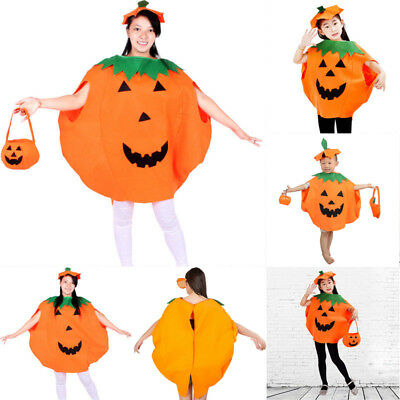 AU Seller Halloween Pumpkin Costume Adult Kids Cosplay Party Fancy Clothes Hat