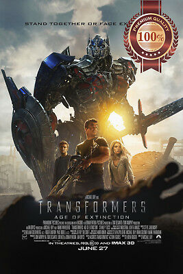 New Transformers Age Of Extinction 2014 Official Movie Film Print Premium Poster
