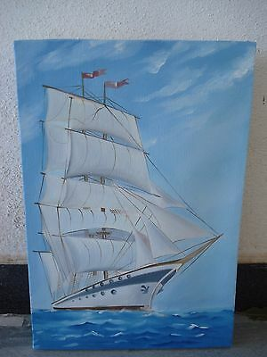 Hand Made OIL Painting on Canvas - Marine / Nautical / Boat / Maritime (1046)