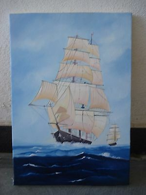 Hand Made OIL Painting on Canvas - Marine / Nautical / Boat / Maritime (1041)