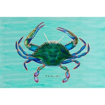 Blue Crab Outdoor Wall Hanging 24x30