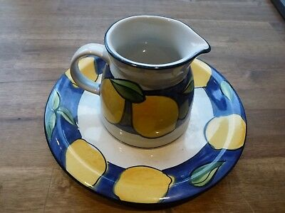 Temuka Pottery Jug And Matching Saucer Lisbon Lemons Pattern