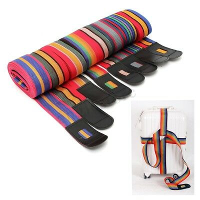 1/2/4Pcs Multi-Color Travel Luggage Suitcase Strap Belt Baggage Backpack Bag