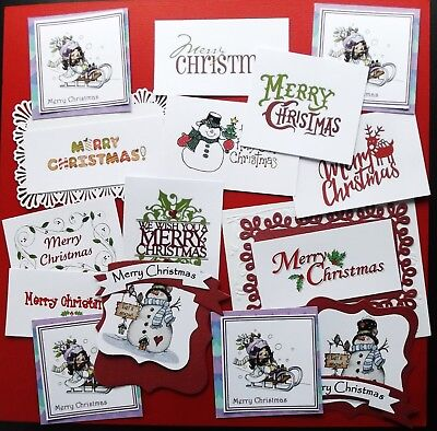 Mixed Selection Of Christmas Sentiments Plus Useful Extra 25+ Christmas Pieces