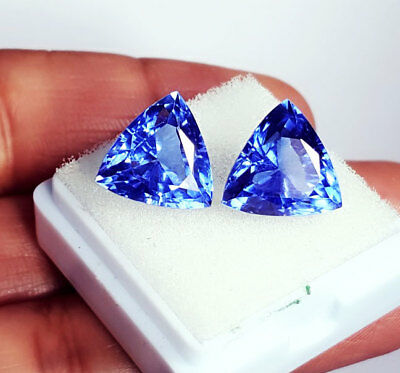 Loose Gemstone 6 to 8 cts 2 Certified Pairs Best Offer Natural Blue Sapphire