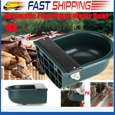 AU 4L Automatic Drink Water Bowl Brass Float Valve Trough Stock Animal Cow Horse