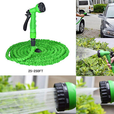 Expandable Flexible Magic Hose 25-250FT Water Pipe Spray Nozzle Garden Green