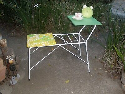 Retro Vintage Wrought iron Phone Table /  Hall Table so cute PU nth Brissy