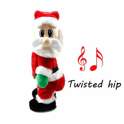 Christmas Santa Claus Figure Twisted Hip Twerking Music Electric Toy XMAS Decor