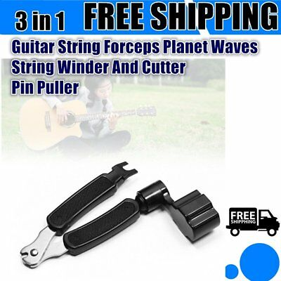 3 in 1 Guitar String Forceps Planet Waves String Winder And Cutter Pin Puller EE