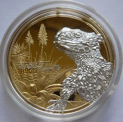 Shades of Nature - Sungazer Lizard Smaug $5 Silver Coin - Cook Islands 2018