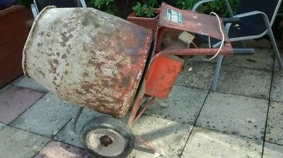 Belle Minimix 150 Cement Concrete Mixer 240 Volt Normal Plug Mains Electric