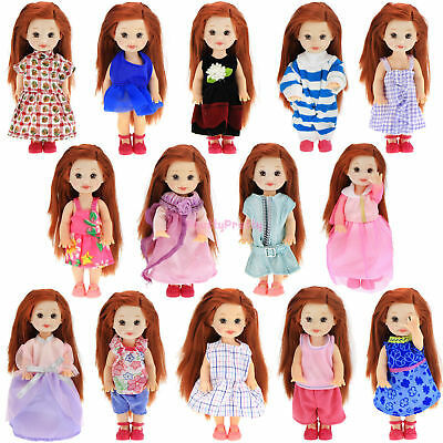 10 Random Daily Dress Outfit Pants Trouses Clothes Shirt For Barbie Kelly Doll A