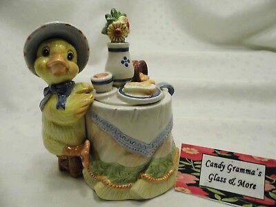 Fitz and Floyd Classic Somerset Duck Duckling Sugar Bowl Honey Pot