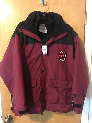 NWT Oklahoma University Champion Heavy Jacket - Size L -  Heavyweight