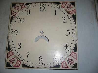Clock dial (face) 12inch square longcase (grandfather) 19th Century for repair