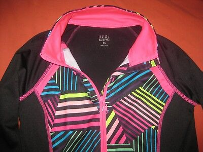 Girls Justice Active Athletic Track Zip Up Jacket Size 16