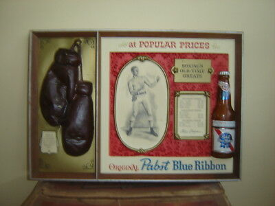 Pabst Blue Ribbon Beer~Boxing All Time Greats ~Bar Sign~Vintage