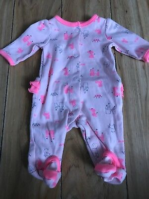 Carters Child Of Mine Preemie Baby Girl Footed Sleeper Outfit