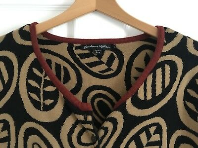 Gudrun Sjoden Black And Brown Cardigan XL 18