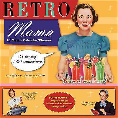 Retro Mama Family Planner 2018-2019 Family Month To View