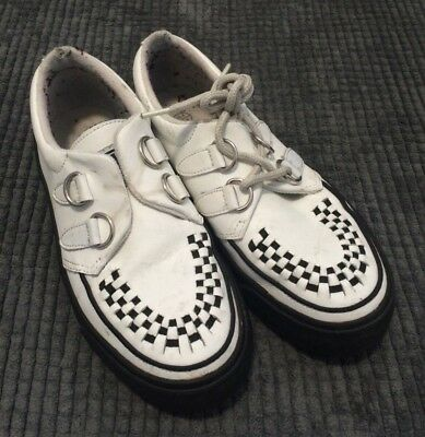 5245884957c TUK White And Black Creepers Rockabilly Punk Rock n Roll Size UK 4 EUR 37