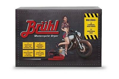 MOTORCYCLE DRYER BRUHL MD1900+ ELIMINATE WATER SPOTTING & CORROSION New Design