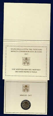 2 EURO COIN CARD VATIKAN VATICAN 2017Anniversary of St Peter, and St Paul.