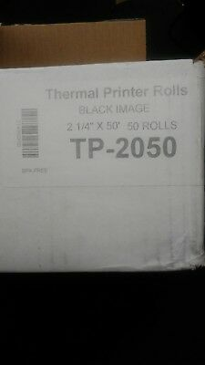 "Terminals Receipt printer Paper Rolls - 100 rolls 2 1/4"" x 50'"