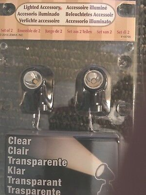 2 SPOTLIGHTS for mini VILLAGE Display, Halloween Christmas, Dept 56 Lemax Lights
