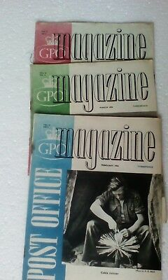 3 Issues The Post Office Magazine February March April 1954 GPO