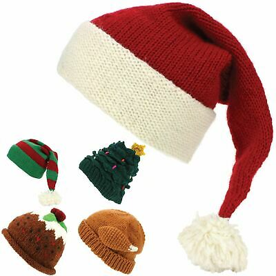 affe2f0f008 Beanie Hat Wool Elf Santa Christmas Pudding Turkey Xmas Cap LoudElephant  Knit