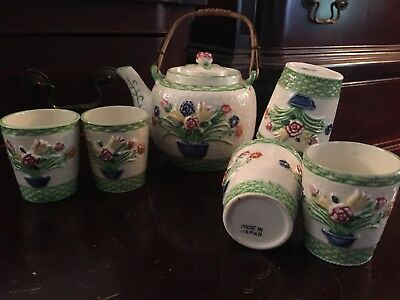 Vintage Teapot And Teacups. Made In Japan