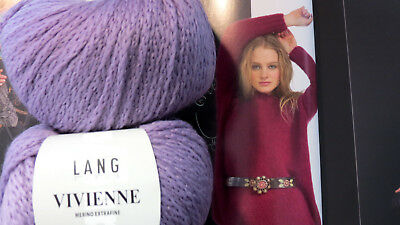 700 g Vivienne Lang Yarns Wolle Lana Fb 107 helles Lila N 5-6 extra weich LUXUS