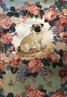 Pugs and Petals Fabric Sitting Pug LeeJofa