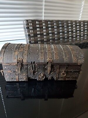 Rare handmade Tiny Vintage Wooden Chest