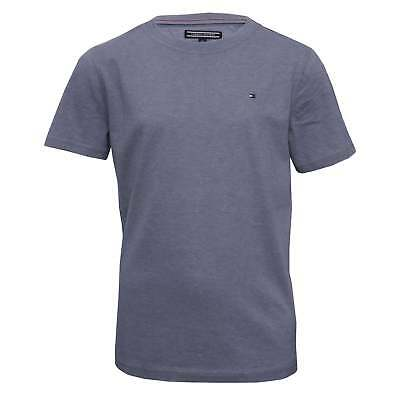 Tommy Hilfiger Original Boys Crew-Neck T-Shirt, Indigo Heather