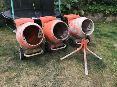 Belle Cement Mixer 110v And Petrol With Stands