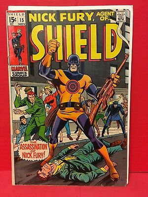 Nick Fury, Agent Of SHIELD #15 1st App And Death Of Bullseye 69' Assasination Of