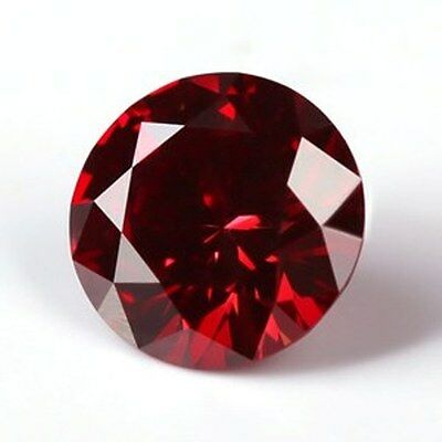 4.70 CT MOISSANITE CHERRY RED 11.50 mm. VVS1 LOOSE ROUND SUPERIOR TO DIAMOND