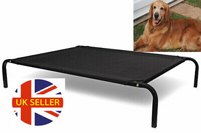 Pet Elevated 4 Sizes Bed Dog Cat Folding Portable Raised Cot Outdoor Garden UK