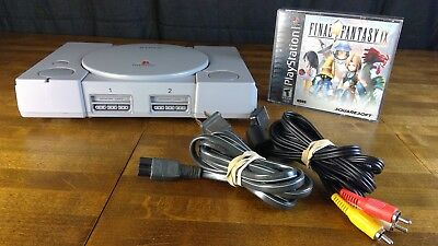 Vintage Play Station 1 PS1 Video Game Console With Cords, Game Final Fantasy 9