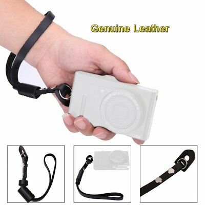 Leather Camera Wrist Strap Adjustable Hand Grip For Sony Leica Fuji Canon Nikon
